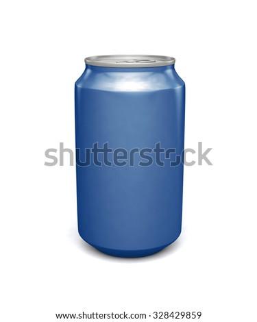 blank blue soda can - photo #9