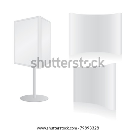 Blank board banner for designers - stock photo