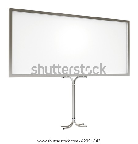 Blank board for advertisement, with clipping path, 3d illustration - stock photo
