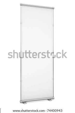 Blank Board isolated on white - 3d illustration - stock photo
