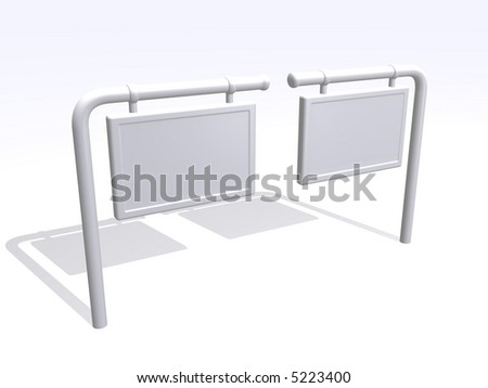 blank board that you can write anything - stock photo