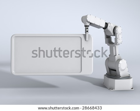 Blank board with robot