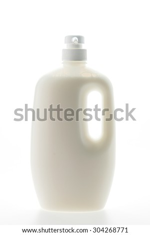 Blank Body lotion bottles isolated on white background