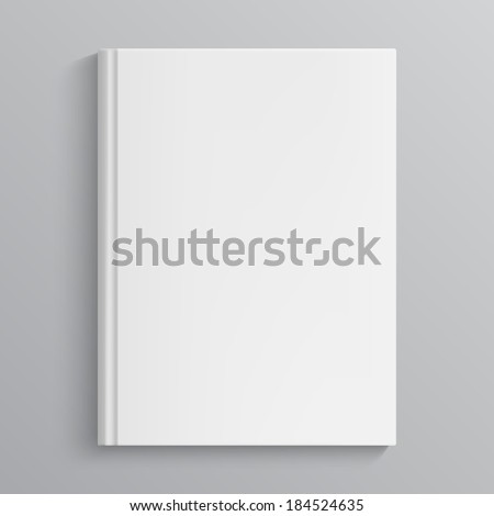 Blank book cover. Isolated object - stock photo