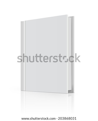 Blank book cover over white background.  - stock photo