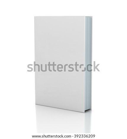 Blank book cover over white background - stock photo