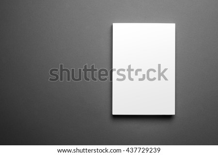 Blank book cover template isolated on grey background with clipping path ready for your artwork - stock photo