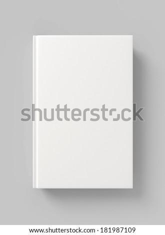 Blank book hardcover - stock photo