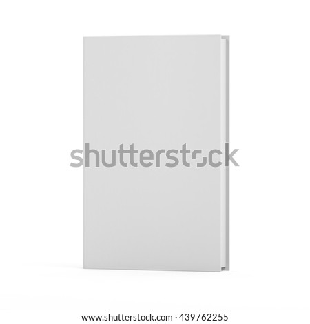 Blank Book isolated on white background, mock up, 3d render