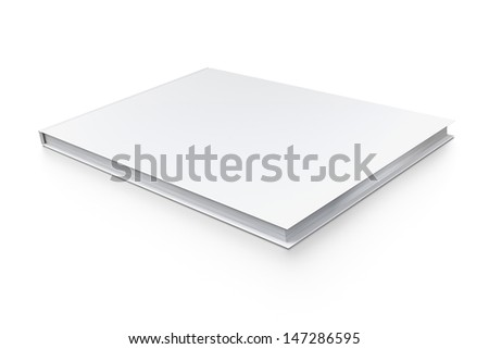 Blank Book isolated on white with soft shadows.