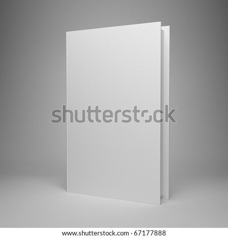 Blank book on gray background - stock photo