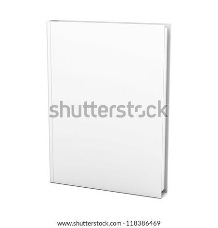 Blank book on white background - stock photo