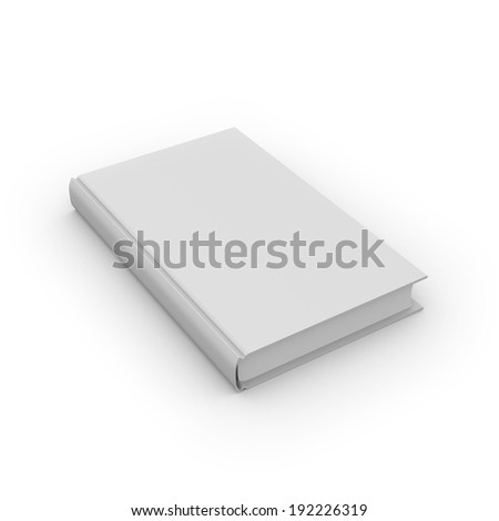 Blank book with free copy space on white background - stock photo