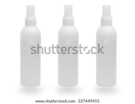 blank bottle on white back ground - stock photo
