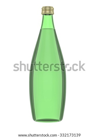 Blank bottle on white background, ready for your creative design. 3D illustration