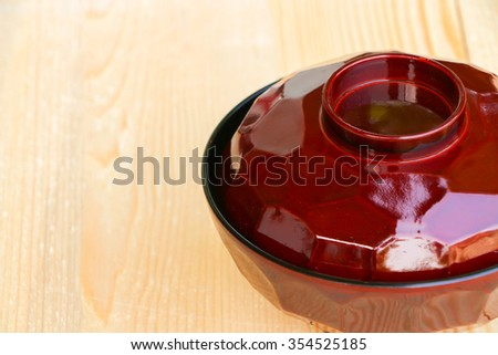 blank bowl on wooden background