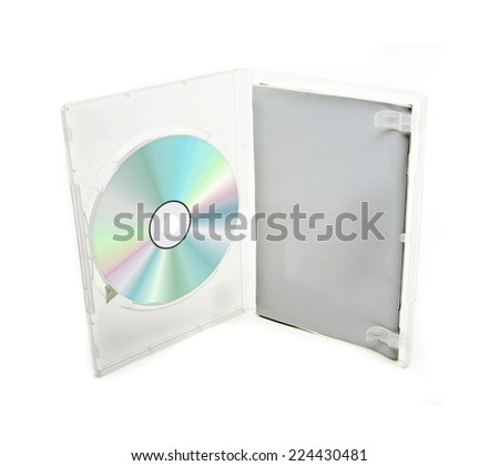 blank box and cd or dvd disk - stock photo