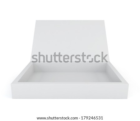 Blank box. 3d illustration on white background
