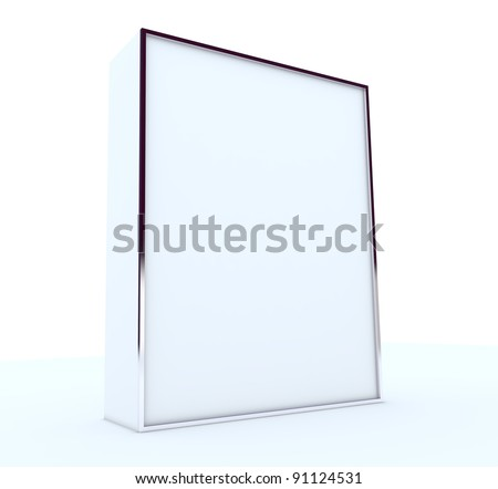 blank box display new design aluminum frame template for design work,isolate on white background. - stock photo
