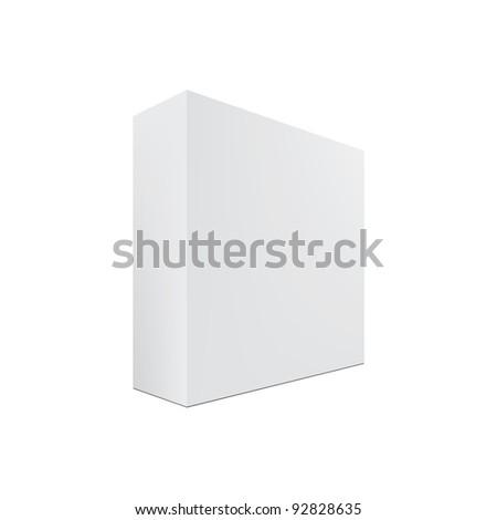 Blank box isolated - stock photo