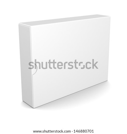 Blank box isolated on white - stock photo