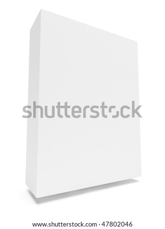 Blank Box Isolated on White