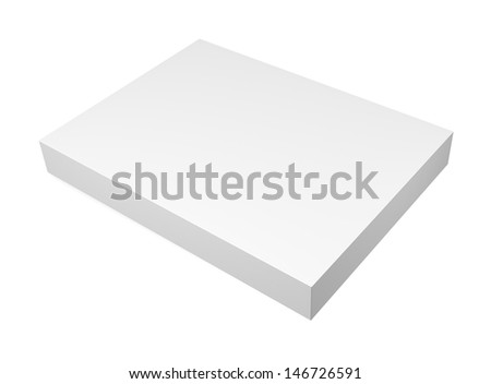 Blank box isolated on white background