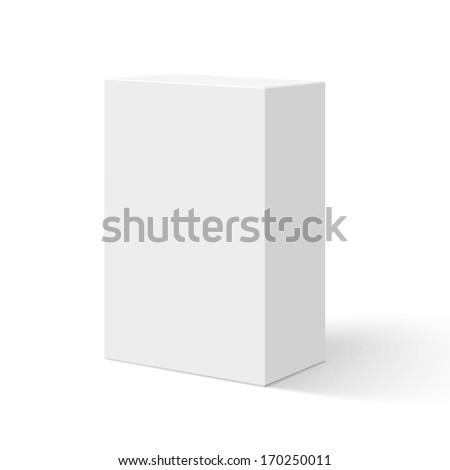 Blank box isolated on white background - stock photo
