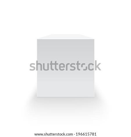 Blank box isolated on white background - stock photo