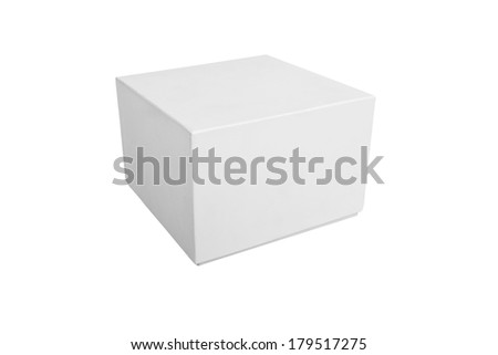 Blank box isolated on white background with clipping path - stock photo