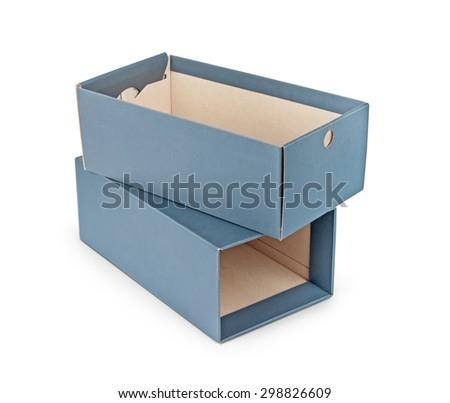 blank box isolated over white background - stock photo