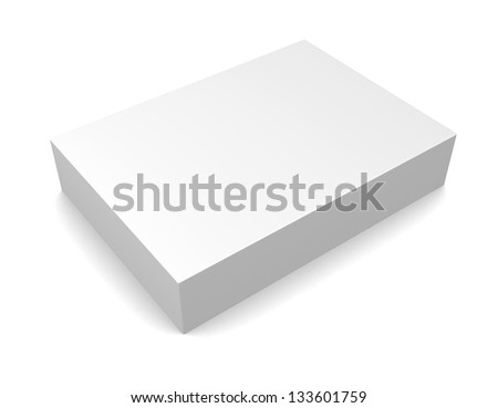 Blank box on white background - stock photo