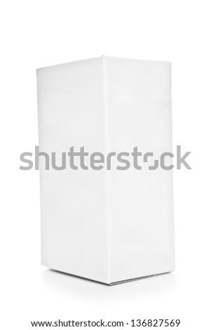 Blank box on white background - stock photo