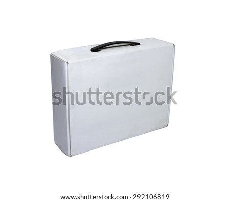 Blank box on white background on white isolate with clipping path for decorate project.
