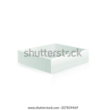 Blank box on white background. Raster copy. - stock photo