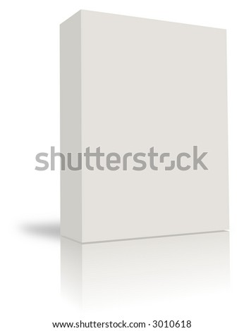 blank box  over white background- computer generated clipart - stock photo