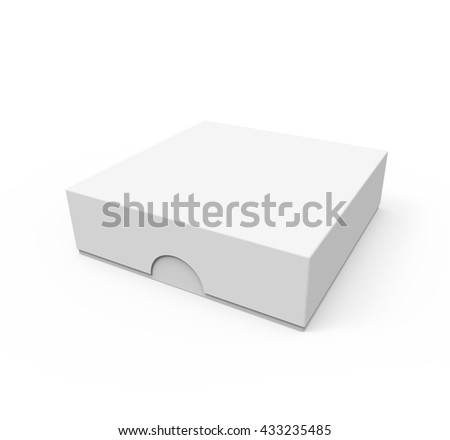 Blank box package for mobile phone, or other things,  isolated on white background. Mockup, Template for your design. 3D illustration