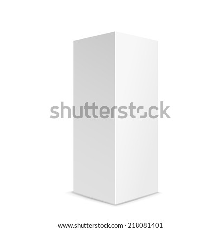 blank box product isolated on white background - stock photo