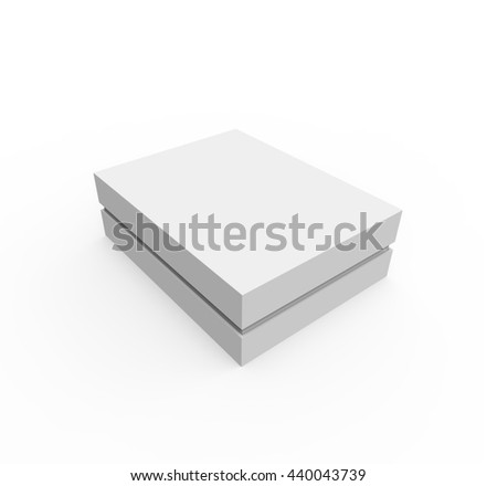 Blank Box. Top View Mockup. 3D illustration