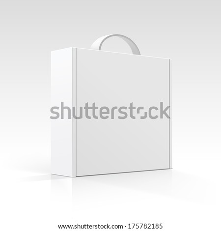 Blank Box with Handle - stock photo