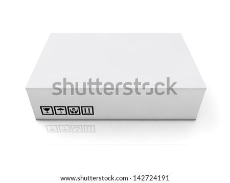 blank boxes isolated on white background - stock photo