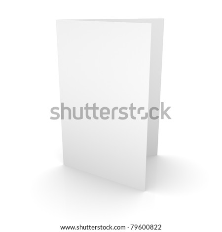 Blank Brochure - stock photo