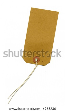 blank brown address label - stock photo