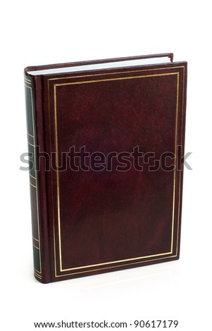 Blank brown book on a white background - stock photo
