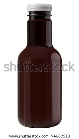 Blank brown plastic bottle