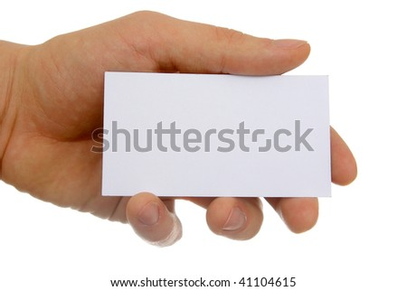 blank business card - stock photo