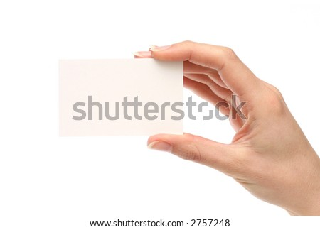 Blank business card. Add your own text