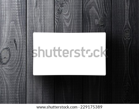 blank business card on gray table, 3d render - stock photo