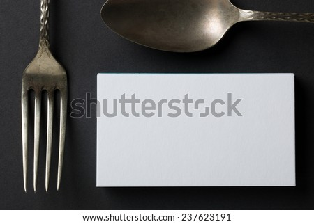 blank business card or invitation - stock photo