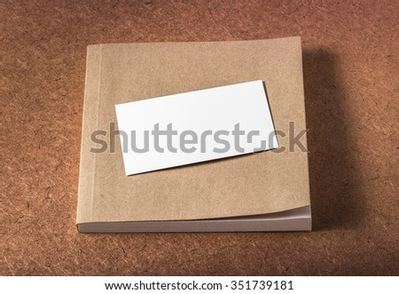 Blank business card recycle note book stock photo royalty free blank business card with recycle note book studio shot colourmoves